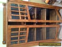 Antique Oak & Glass Curio Cabinet