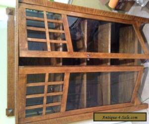 Antique Oak & Glass Curio Cabinet for Sale