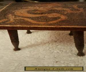 Antique/ vintage quirky little table with Chinese  dragon  on top  for Sale