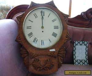 Antique English Fusee Wall Clock 1800's working for Sale