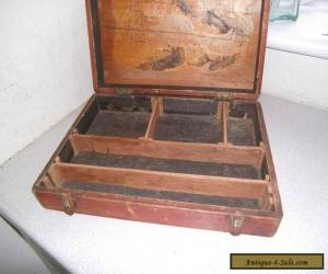 ANTIQUE / VINTAGE WOODEN COLLECTORS/ SPECIMEN / STORAGE CASE / BOX for Sale