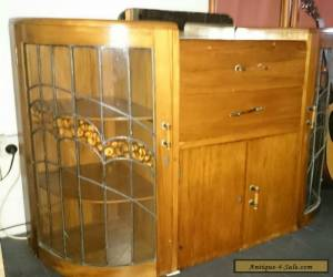 Art  Deco Superb Solid Timber Cocktail Cabinet for Sale