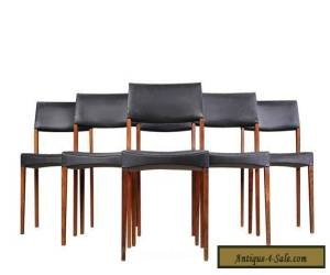 Six Rosewood Dining Chairs Danish Modern Mid Century for Sale