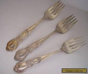 Heritage Silverplate 1847 Rogers Salad Forks  Int'l Silver (3 pcs) for Sale