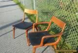Pair Teak Danish Dining Boomerang Chairs Erik Christensen Mid Century Modern for Sale