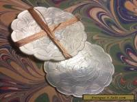 #2 Pair Mother of Pearl Antique Georgian Sewing  Box Silk Thread Winder c.1810