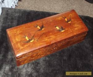 ANTIQUE INLAID WORK SEWING BOX for Sale