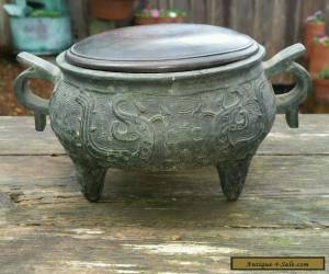 Antique Chinese Bronze  censer Marked for Sale
