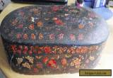 ANTIQUE KASHMIR LARGE SEWING BOX for Sale