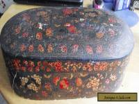 ANTIQUE KASHMIR LARGE SEWING BOX