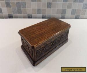 LOVELY VICTORIAN 19thC HAND CARVED OAK SMALL DESK OR TABLE BOX  for Sale