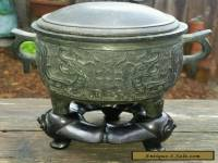 Antique Chinese Bronze Censer- burner marked