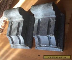 Pair Antique Small Wood Porch Corbels Old Vintage Gray for Sale