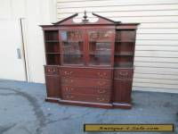 51556    Antique Mahogany China cabinet Curio w/desk