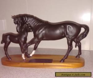 A Connoisseur Model by Beswick England of Black Beauty Mare and Foal for Sale