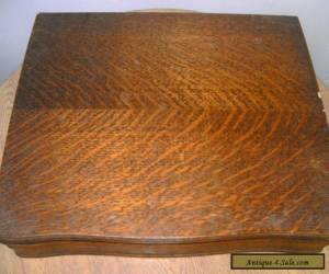 antique wooden empty cutlery box for Sale