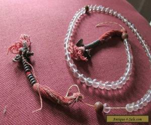 Antique Chinese or Tibetan Prayer Beads Rock Crystal  for Sale