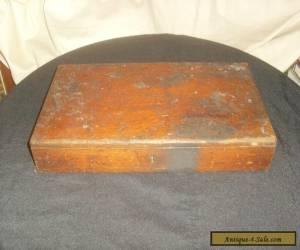 Antique Wooden Oak Box - Artists Box for Sale