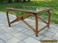 VINTAGE MID CENTURY Modern TIKI Bamboo and Glass Coffee Table