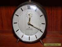 Junghans Silentic Trivox Vintage German Alarm Clock. Art Deco