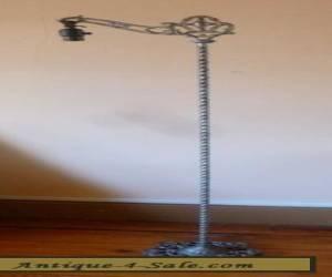 antq ART DECO cast IRON bridge FLOOR lamp .  for Sale