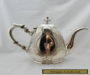 Antique Victorian 1880's Thomas Wilkinson Silver Plated Teapot Coffee Pot for Sale