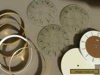 ORIGINAL VINTAGE - BULK LOT - SMITHS WALL CLOCK GLASS DIALS & FRAMES