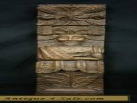 UNUSUAL ANTIQUE CARVED WOOD PANEL