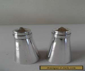 VINTAGE HECWORTH EPNS SALT & PEPPER SHAKERS for Sale