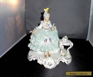 VINTAGE CAPODIMONE FIGURINE DRESDEN STYLE LADY for Sale