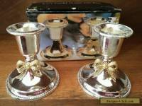 Vintage Silver Plated Candle Holders in original box