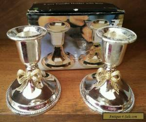 Vintage Silver Plated Candle Holders in original box for Sale