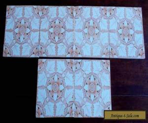 SIX OLD WASHSTAND TILES, 100 YEARS OLD.  ALL MATCHING, VERY GOOD CONDITION. for Sale
