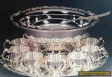 ROYAL LIMITED Silver Plate Thirteen Piece PUNCH BOWL SET IN ORIGINAL BOX for Sale