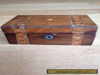 Antique Box with Marquetry Inlay