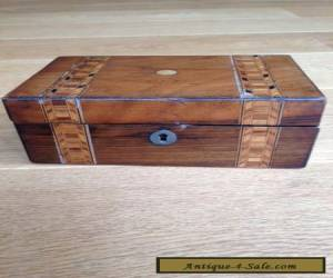 Antique Box with Marquetry Inlay for Sale