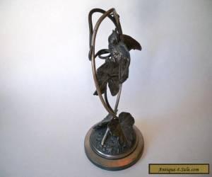Meriden B Company art nouveau Silver Plate Figural Bird bud vase 296 for Sale