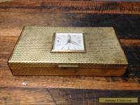 BRT Rare German Vintage Europa Trinkets Jewellery Box Wind Up Clock 7 Jewels