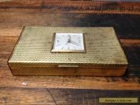 BRT Rare German Vintage Europa Trinkets Jewellery Box Wind Up Clock 7 Jewels