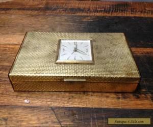 BRT Rare German Vintage Europa Trinkets Jewellery Box Wind Up Clock 7 Jewels  for Sale