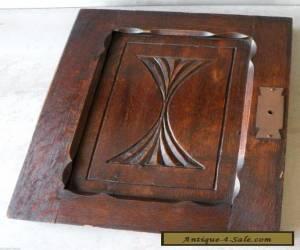 Antique Carved Quartered Oak Salvage Furniture Paneled Cabinet Door for Sale