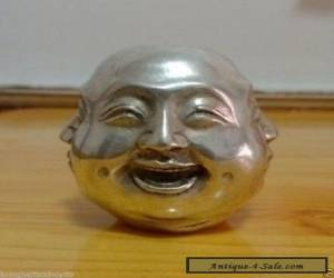Chinese tibet silver carved 4 face Buddha decoration for Sale