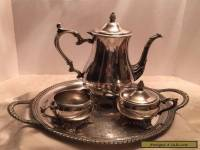 Wm. Roger Bros Silver plate Coffee Tea serving set - 4 Pieces