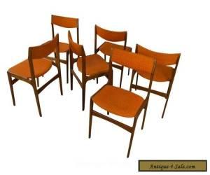 6 Teak Dining Chairs Danish Mid Century Modern for Sale
