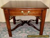 ETHAN ALLEN CHERRY TABLE End, Side With Single Drawer VINTAGE