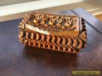 Antique Carved Coquilla Nut Treen Snuff Box