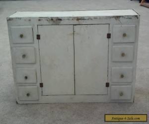 Vintage 40s Primitive Cabinet 8 Drawers Center Section Dollhouse Dresser for Sale