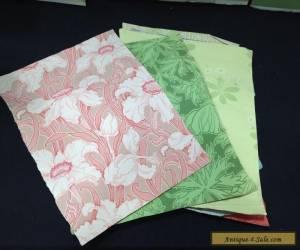 7 Sheets Art Nouveau Wallpaper William Morris (?) Salesman Catalog Samples for Sale