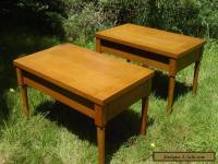 2 VINTAGE 1950S WIDDICOMB END TABLE SET GIBBINGS NIGHT STANDS MODERN