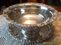 Punch Bowl & Tray Silverplated Grapevine Pattern